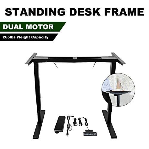 DC HOUSE Elektrisch höhenverstellbarer Schreibtisch mit 2