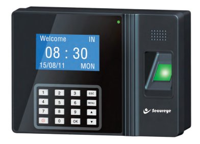 SECUREYE S-B100CB IP BASED FINGER PRINT BIOMETRIC TIME & ATTENDANCE CUM ACCESS CONTROL SYSTEM WITH BATTERY BACKUP & Free ON Time Software (includes basic payroll)  available at amazon for Rs.6250