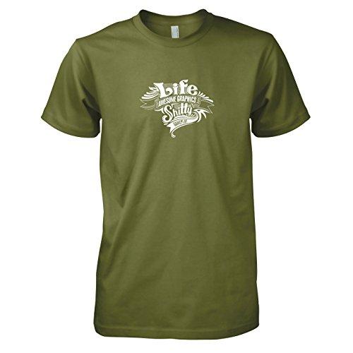 TEXLAB - Game of Life - Herren T-Shirt Oliv