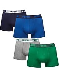 Puma Herren Boxer Basic Unterhosen 4er Pack in verschiedenen Farben 521015001