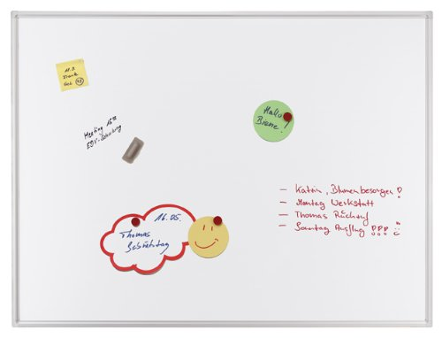 Preisvergleich Produktbild Franken SC4205 Schreibtafel (magnethaftend,  Alurahmen mit Ablageleiste,  180 x 120 cm) emailliert weiß