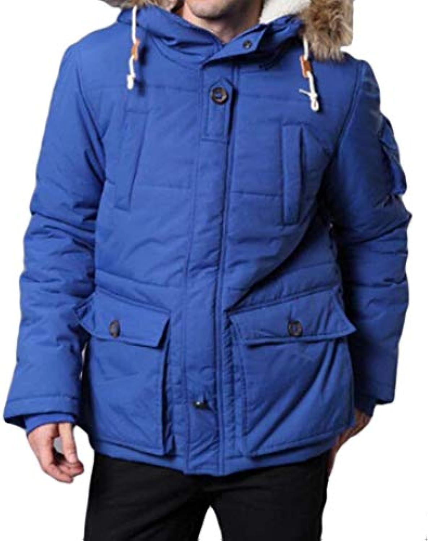 Kangqi Abbigliamento da da Uomo Giacca Invernale da da Uomo con Cappuccio  in Pelliccia con Cappuccio f0b36ed9b0e