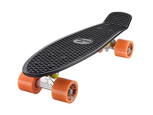 Ridge Skateboard Mini Cruiser, schwarz-orange, 22 Zoll