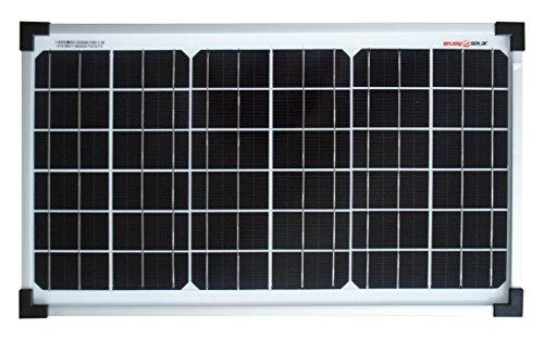 enjoysolar® Monokristallin 20Watt 12V Solarmodul Solarpanel Mono 20W ideal für Garten Wohnmobil Caravan ...