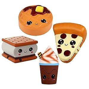 Anboor 4 Piezas Emoji Squishies