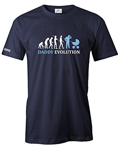 DADDY EVOLUTION - HERREN - T-SHIRT in Navy by Jayess Gr. S (Bedruckte Für T-shirts Teens-jungs)