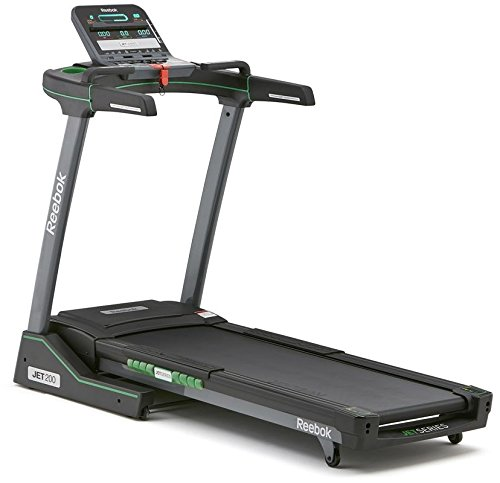 Reebok Unisex Jet 200 Treadmill, Black/Green, One Size