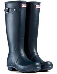 Hunter Original - Botas de agua de caña alta unisex, color marrón, talla 38