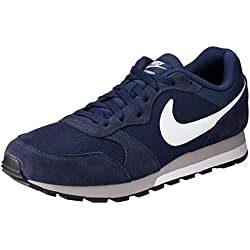 Nike NIKE MD RUNNER 2 Zapatillas de running Hombre, Azul (Midnight Navy/White-Wolf Grey), 42 EU