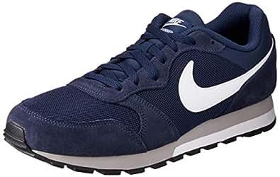 Nike MD Runner 2, Chaussures de  Running homme - Bleu (Midnight Navy/White-Wolf Grey 410), 38.5 EU
