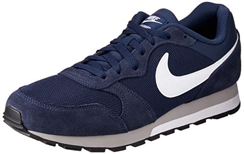 Nike MD Runner 2, Zapatillas de Running Hombre, Azul (Midnight Navy/White-Wolf Grey), 44.5 EU