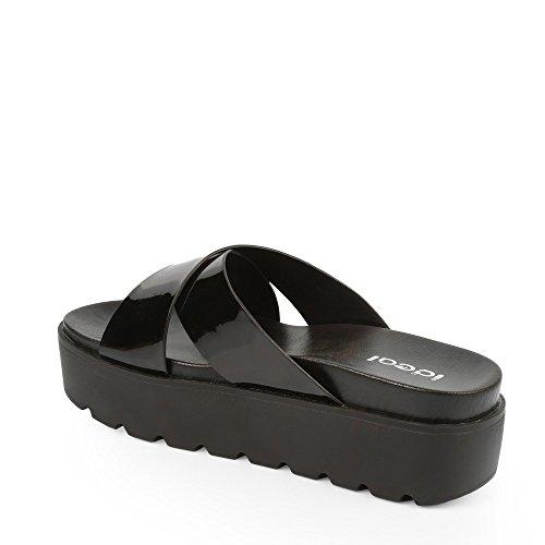 Ideal Shoes–Sandali compensate RACHELA Nero