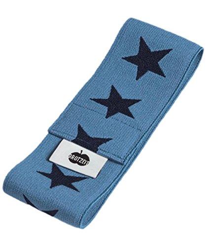 Brotzeit- Band Stretchband Lunchbox Brotdose mit Sternen, Blau