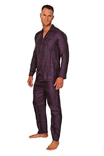 brioni-schlafanzug-herren-dunkelblau-seide-gepunktet