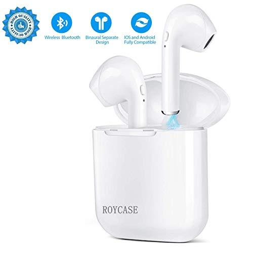 Bluetooth Kopfhörer In-Ear Sport Stereo Hi-Fi Ohrhörer mit Geräuschunterdrückung, Tragbarer Ladekästchen und Mikrofon mit Allen intelligenten Geräten Kompatibel mit Allen Smartphones - Bluetooth-kopfhörer Hi-fi