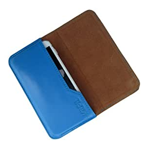 i-KitPit : Genuine Leather Flip Pouch Case Cover For Gionee Gpad G1 (SKY BLUE)