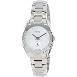 ESQ Movado Women's 07101424 Origin Stainless Steel Case Diamonds Stainless Steel Bracelet Silver Dial Watch