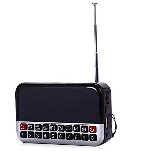 Traders Siliver : LED Alarm Clock Radio Digital Clock Multifunctional Sleep Timer LCD Display MP3 Player Speaker Portable FM Radio Desktop Clock
