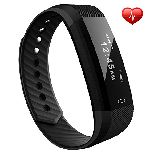 OMorc Fitness Tracker IP67 Activity Tracker Cardio Bluetooth 4.0 Sport Orologio Fitness Watch Cardiofrequenzimetro da Polso, Pedometro, Sonno Monitoraggio, Monitoraggio Calorie, Notifiche Chiamate, Telecomando Camera, Anti-lost per Android e iOS Smartphone, Nero