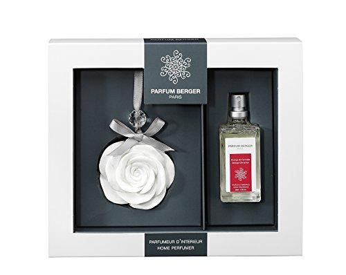 Parfum Berger 6081 Pampille Rose + Parfum Orange de Cannelle Transparent 30 ml