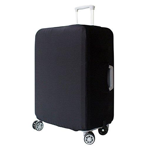 Protector Maleta Elástico Cubierta de Equipaje protector de la cubierta de la maleta protectora Funda, Negro (L 26-28 pulgadas)