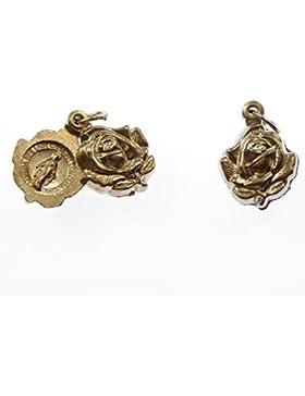 Stieg Schieberegler wundertätige Medaille Anhänger - Farbe Silber Metall 2cm [Schmuck]