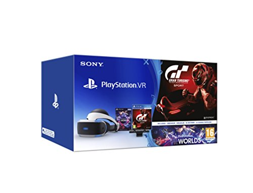 Sony - PlayStation VR + Cámara + Worlds + Gran Turismo Sport (PS4)