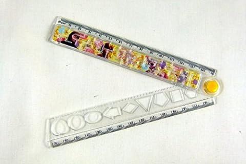 Frozen Gelé jeu sur le thème Formes transparent pliable 30cm règle - Jaune