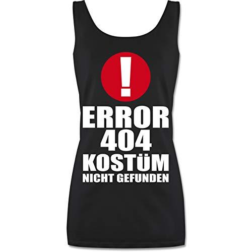 Shirtracer Karneval & Fasching - Error 404 Kostüm Nicht gefunden - M - Schwarz - P72 - lang-geschnittenes Tanktop für Damen