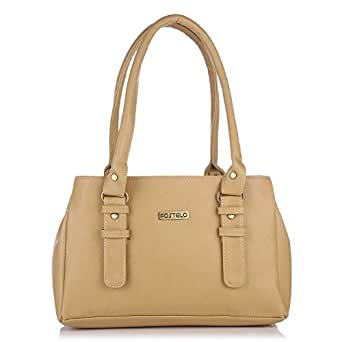 Fostelo Women 's Shoulder Bag (Beige,Fsb-413)