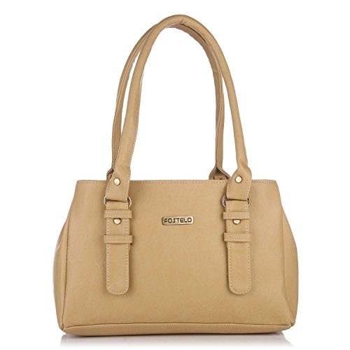 Fostelo Women 's Shoulder Bag (Beige,Fsb-413)