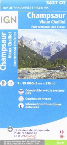 Champsaur - Vieux Chaillol - Parc des Ecrins 1 : 25 000 (Ign Map)
