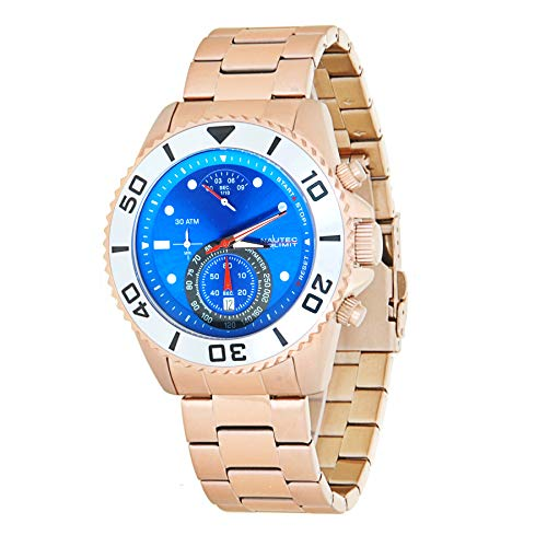 Nautec No Limit Mens Chronograph Quartz Watch with Stainless Steel Strap COUF-QZ RG-BL
