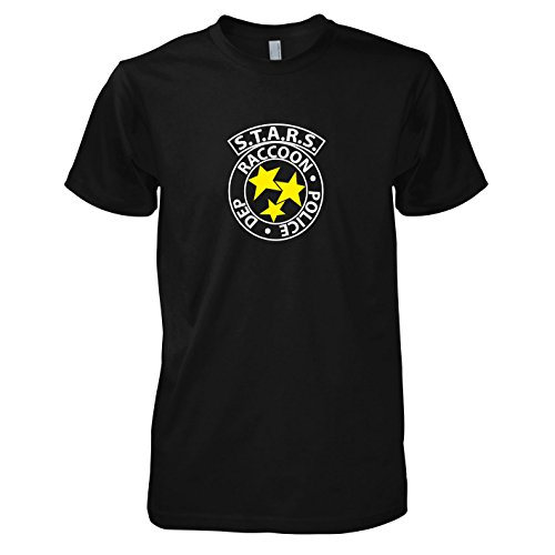 TEXLAB - RE: S.T.A.R.S. Logo - Herren T-Shirt, Größe L, (Kostüm Evil Afterlife Resident)