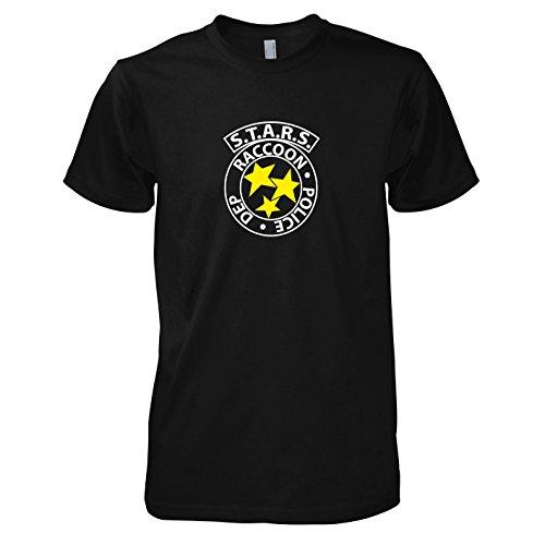 TEXLAB - RE: S.T.A.R.S. Logo - Herren T-Shirt, Größe L, (Evil Kostüme Resident Ps4)