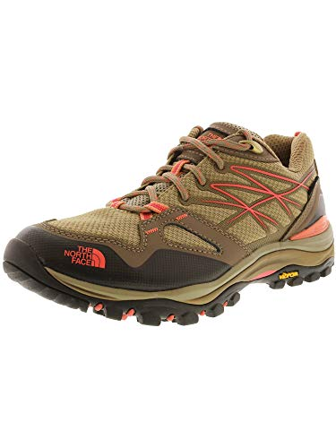 North Face Womens Hedgehog (The North Face Hedgehog Fastpack GTX Hiking Shoe - Women's Cub Brown/Fiesta Red, 9.5)