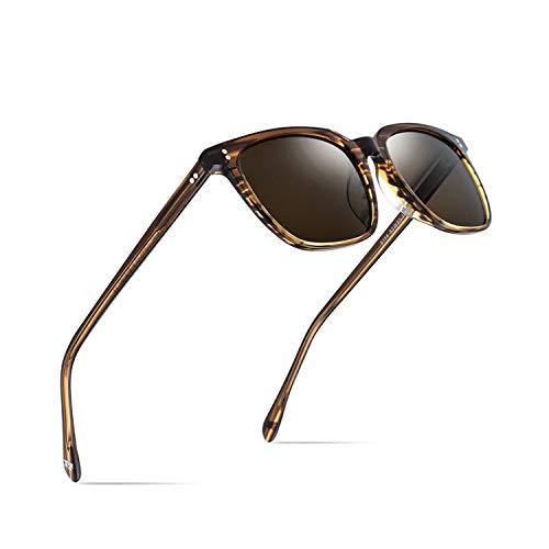 Sportbrillen, Angeln Golfbrille,Acetate Polarisiert Sunglasses Men NEW High Quality Fashion Brand Designer Vintage Square Sun Glasses For Women Goggles Sunglass Tea