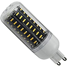 Phigoning 10X LED Bombilla Lampara G9 7W 72 SMD 4014 LED de la lampara del maiz Luz AC220V-240V Blanco Cálido