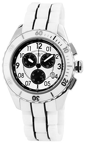 Cerruti Herren Analog Quarz Uhr mit Keramik Armband CRA079Z251H