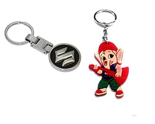 Parrk Heavy Metal Maruti Suzuki With Bal Ganesh Key Chain(Red/Black/Blue)  available at amazon for Rs.189