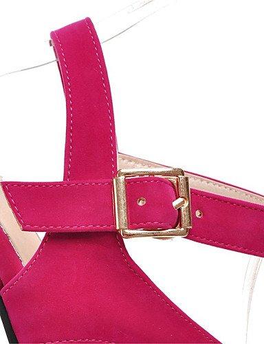 UWSZZ Die Sandalen elegante Comfort schuhe Donna-Sandali - Büro und Arbeit/formelle/Casual-Tacchi/Tick/Plateau-Quadrato - Kunstleder - Schwarz/Blau / Rosa / Weiß, rosa-US 8 / EU 39/UK6/CN 39, rosa-US  almond