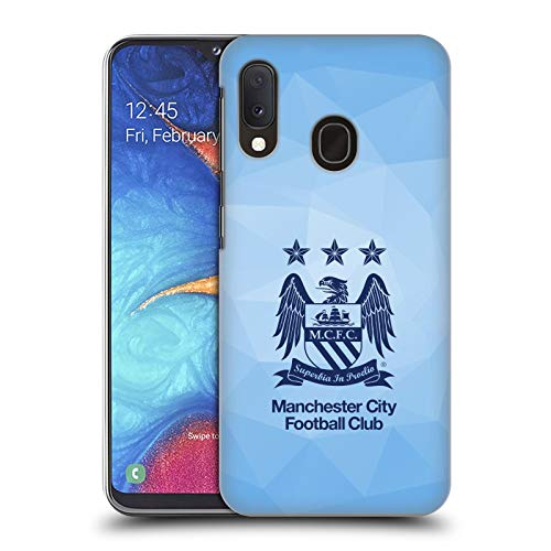 Head Case Designs Offizielle Manchester City Man City FC Himmel Geo Blau Obsidian Crest Geometrisch Harte Rueckseiten Huelle kompatibel mit Samsung Galaxy A20e (2019) -