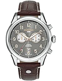 Roamer Men's Quartz Watch with Grey Dial Chronograph Display and Brown Leather Strap 540951 49 06 05