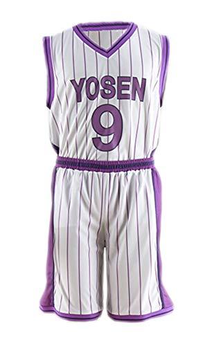 Kostüm Ball Cotton - Chong Seng CHIUS Cosplay Costume Jersey Set for Yosen High No. 9 Murasakibara Atsushi V2