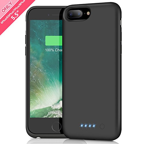 Cover Batteria iPhone 6 Plus/6s Plus/7 Plus/8 Plus,iPosible 8500mAh Custodia Ricaricabile Batteria Esterna Caricabatterie Cover Battery Case per iPhone 8 Plus/7 Plus/6s Plus/6 Plus [5,5''] Power Bank
