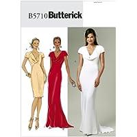 Butterick Patterns The McCall Pattern Company B5710 - Patrones e instrucciones para hacer vestidos (tallas 34 a 42), color blanco