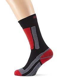 SPAIO rodmann - Calcetines térmicos de esquí , color negro (negro/rojo),