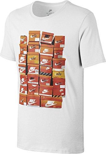 Nike Herren M Nsw Tee Vintage Shoebox Training T-Shirt, Blau Weiß (White/White)