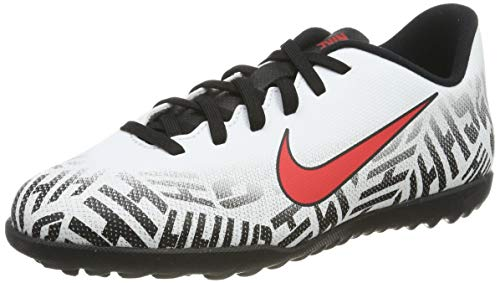 Nike JR Vapor 12 Club GS NJR TF, Scarpe da Calcetto Indoor Unisex Bambini, Multicolore (White/Challenge Red/Black 170), 38.5 EU