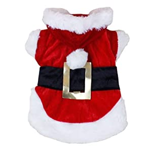 GODHL Costumes de Noël chien vêtements Santa Design(red,XS) nouveau